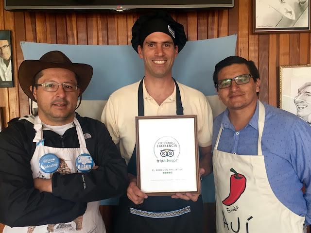 El Bodegón Argentino obtiene Certificado de Excelencia 2016 por Tripadvisor