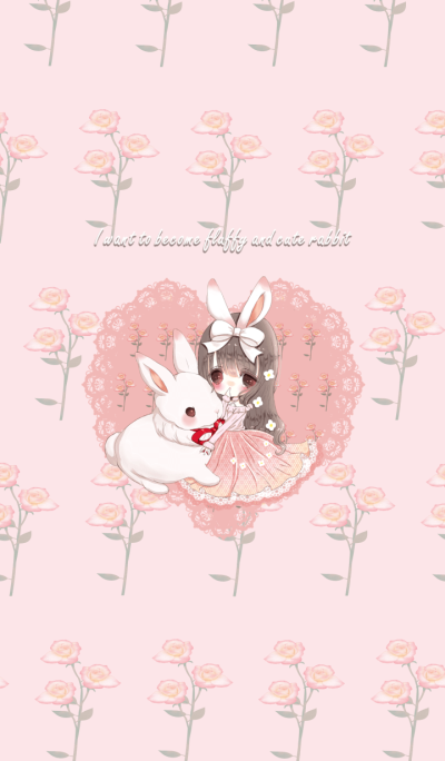 I want to become fluffy and cute rabbit