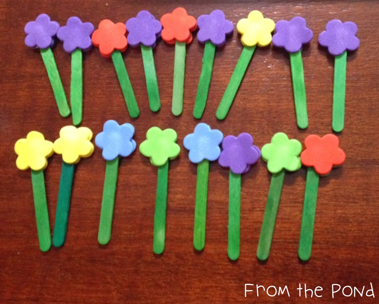 Flower Patch Ten Frame Game