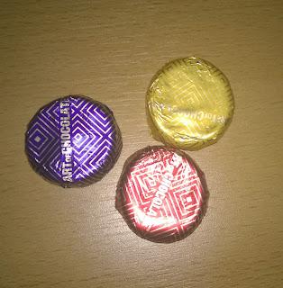 3 verschiedene Sorten Marzipantaler.