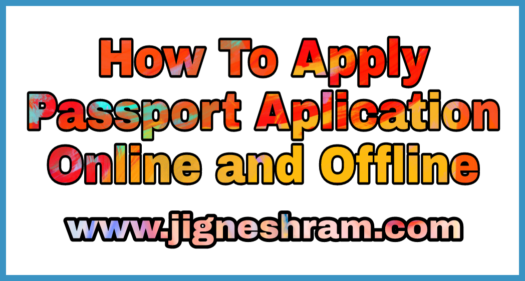How To Apply For Fresh Passportre Issue Of Passport Online Portal