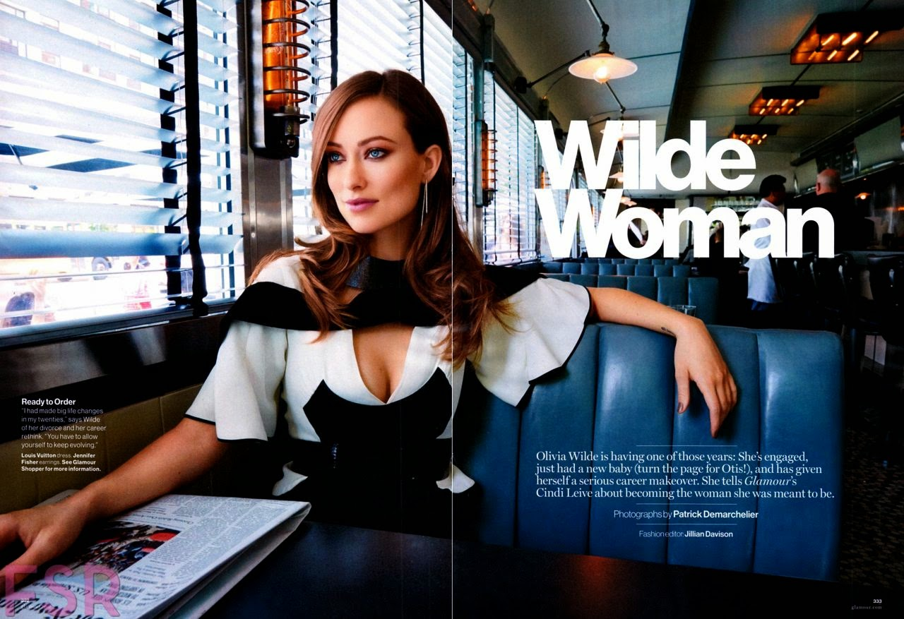 'Wilde Woman' Olivia Wilde covers Glamour Magazine September 2014