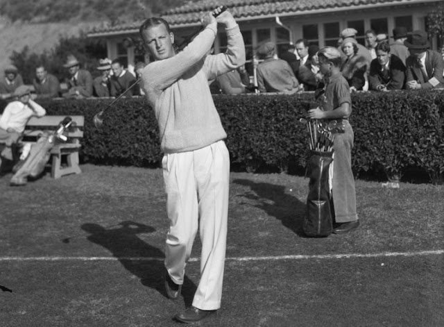 Golfer Craig Wood in 1933 at the Los Angeles Open