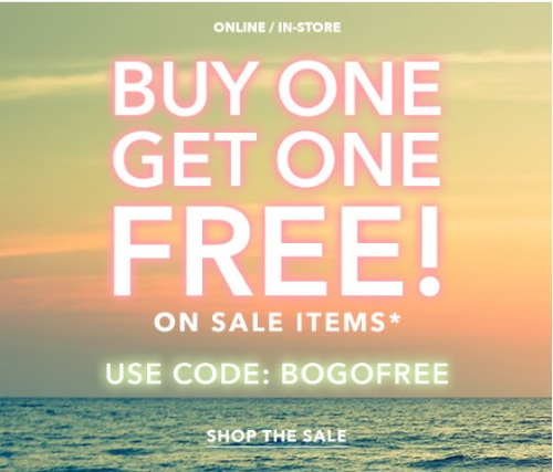 Forever 21 BOGO Buy 1 Get 1 Free Sale Items Promo Code