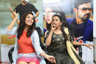 Actress Suma in Black Salwar Suit and Anusuya in orange Dress at winner movie press meet part 2 February 2017 (86).JPG
