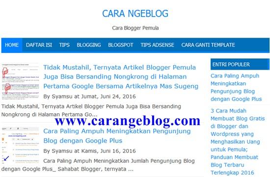 Tips Membuat Blog