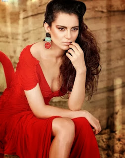 kangana-ranaut-in-red-gown-showing-cleavage-and-legs-in-filmfare-photo-shoot
