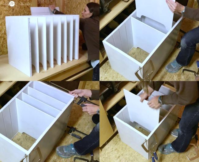 building the tray divider with dado joints