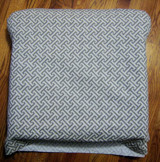 Reupholstered slipcover for nursery glider