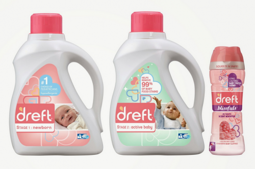 Dreft baby laundry products