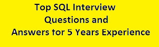 SQL Interview Questions and Answers