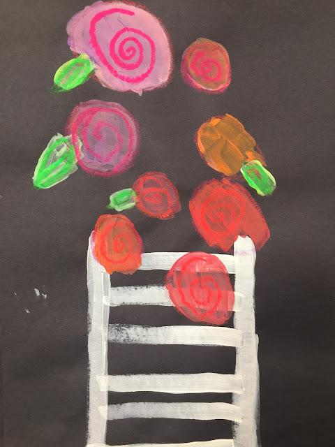 math vocabulary and flower art