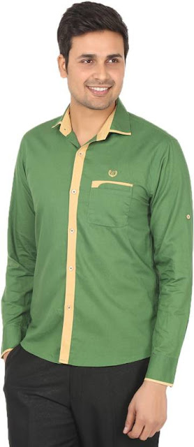 slim fit yeşil gömlek kombini