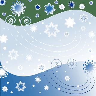 azules para copos de nieve