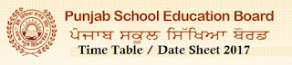PSEB 10th Exams Date Sheet 2017
