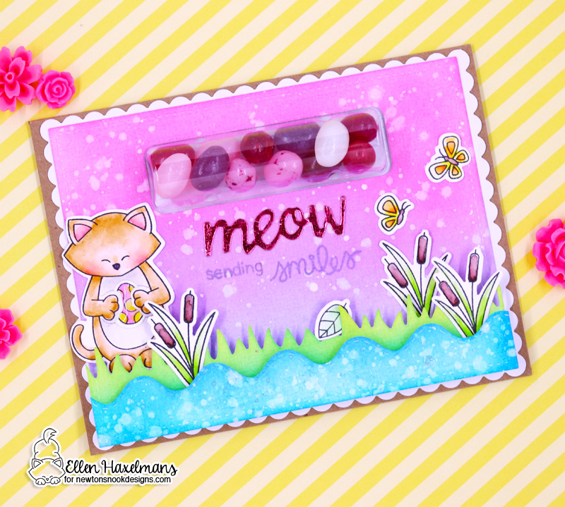 Newton's Nook Designs & Therm O Web Inspiration Week | Easter Scene Card by Ellen Haxelmans | Sending Hugs Stamp Set and various other stamp and die Sets Newton's Nook Designs #newtonsnook #thermoweb