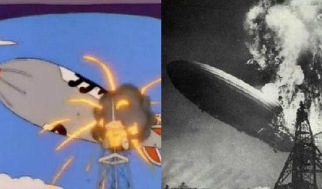 El desastre del Hindenburg, Los Simpsons