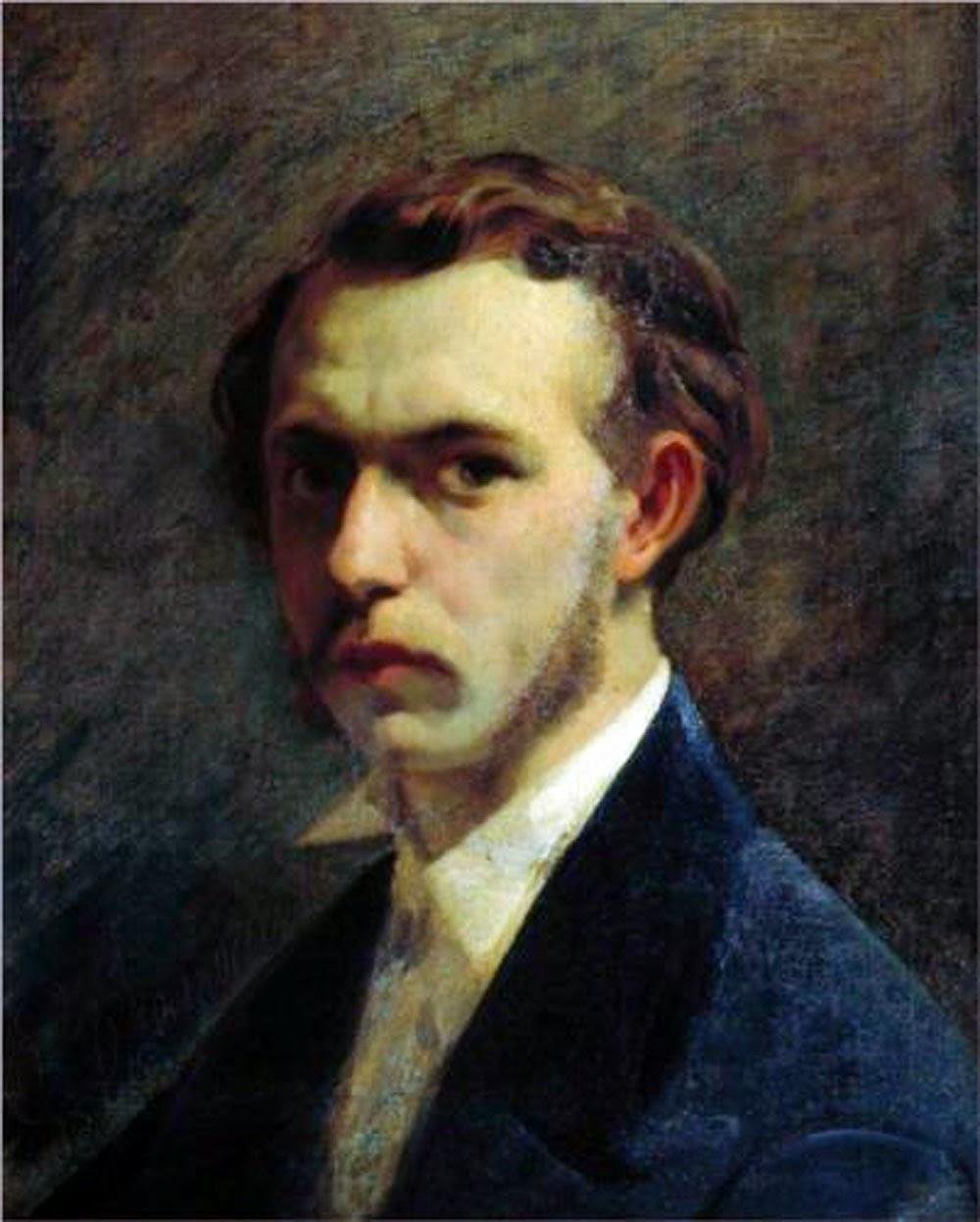Fyodor Bronnikov, Self Portrait, Portraits of Painters, Fine arts, Painter Fyodor Bronnikov