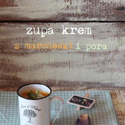 Marchewka, por, kiełki- zupa krem