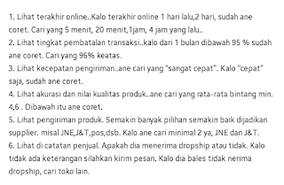 tips memilih supplier di marketplace tokopedia