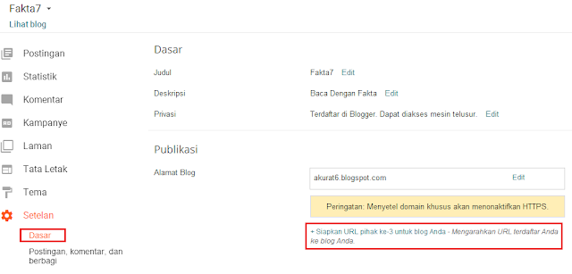 Cara Mengganti Domain Blogspot ke Custom Domain (TLD)