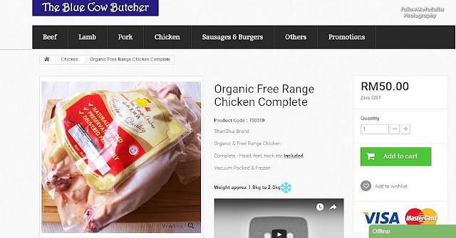 Shan Shui brand, naturally raised free-range chickens
