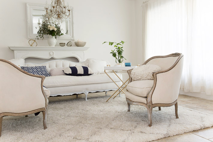 french modern vintage style room