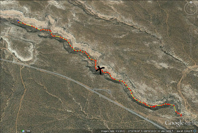 House on Fire, Mule Canyon trail map
