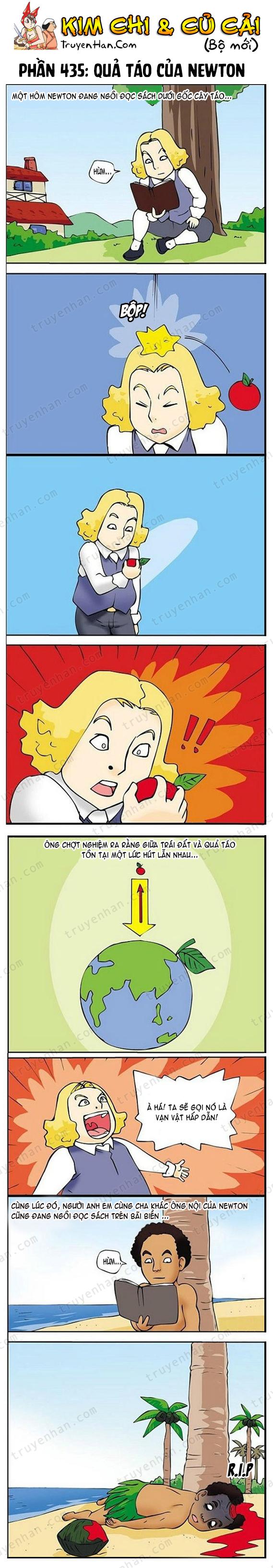Kim Chi & Củ Cải (bộ mới) phần 436: Quả táo của Newton