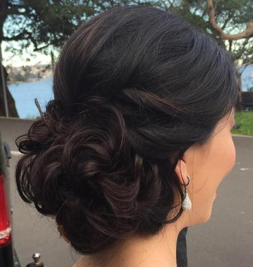 curly ,bunelegant, updos for long hair ,french