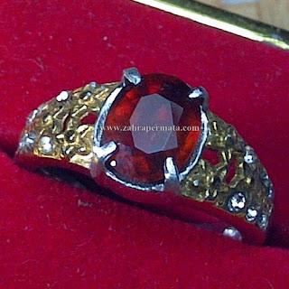 Cincin Batu Red Garnet - ZP 767