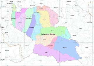 Peta Kecamatan Gunem