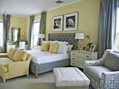 Ultimate Grey and Yellow Bedroom