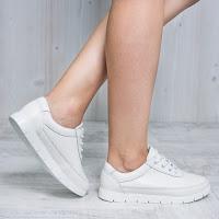 Pantofi dama Piele Dubeau albi comozi