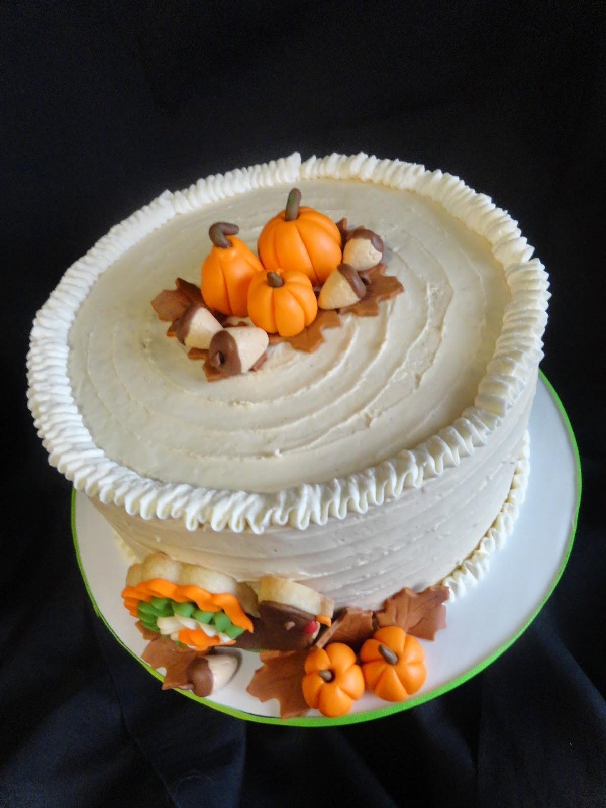 Pink Little Cake Thanksgiving Theme Cake
