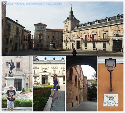 Madrid; Viagem Europa; Turismo na Espanha; Plaza de La Villa; Torre Lujanes; Casa de la Villa; Casa de Cisneiros; Monumento ao almirante espanhol Alvaro de Bazan