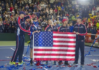 U.S. ease past Belgium into Davis Cup semi-finals