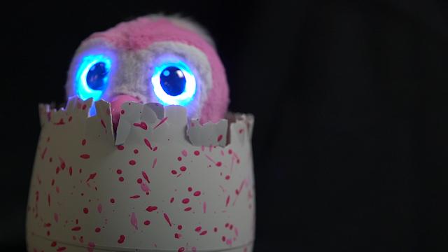Olhos brilhando dos Hatchimals