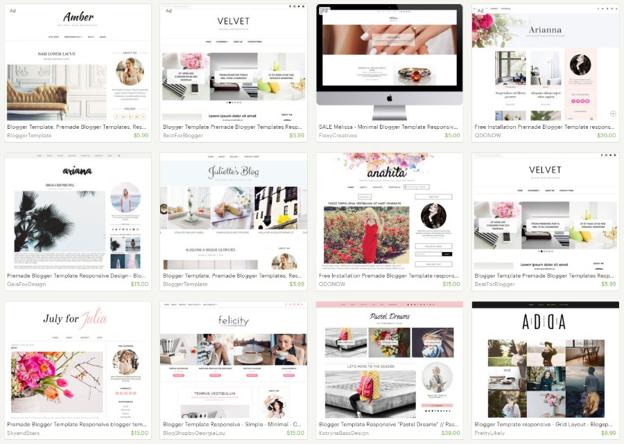 Responsive designer blogger template