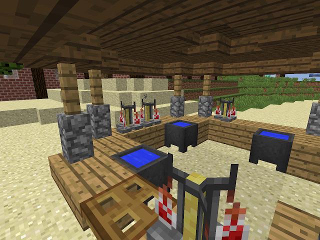 Detail van de Sint-Maartenwereld in Minecraft