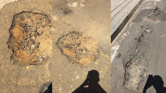 Buracos causam prejuízo a motorista no Jardim Universitário