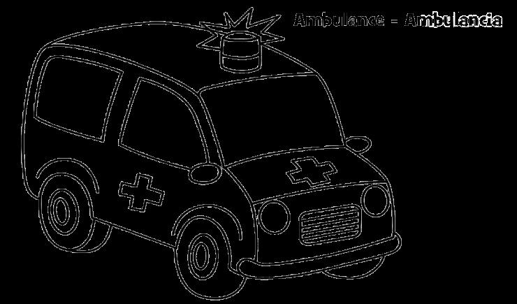 Mewarnai Gambar Mobil Ambulan - Aneka Mewarnai Gambar
