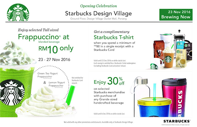 Free Starbucks Malaysia T-shirt Discount Offer Promo