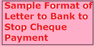 Sample format of letter to bank to stop cheque payment letter sample letter format to bank to stop cheque payment spiritdancerdesigns Image collections