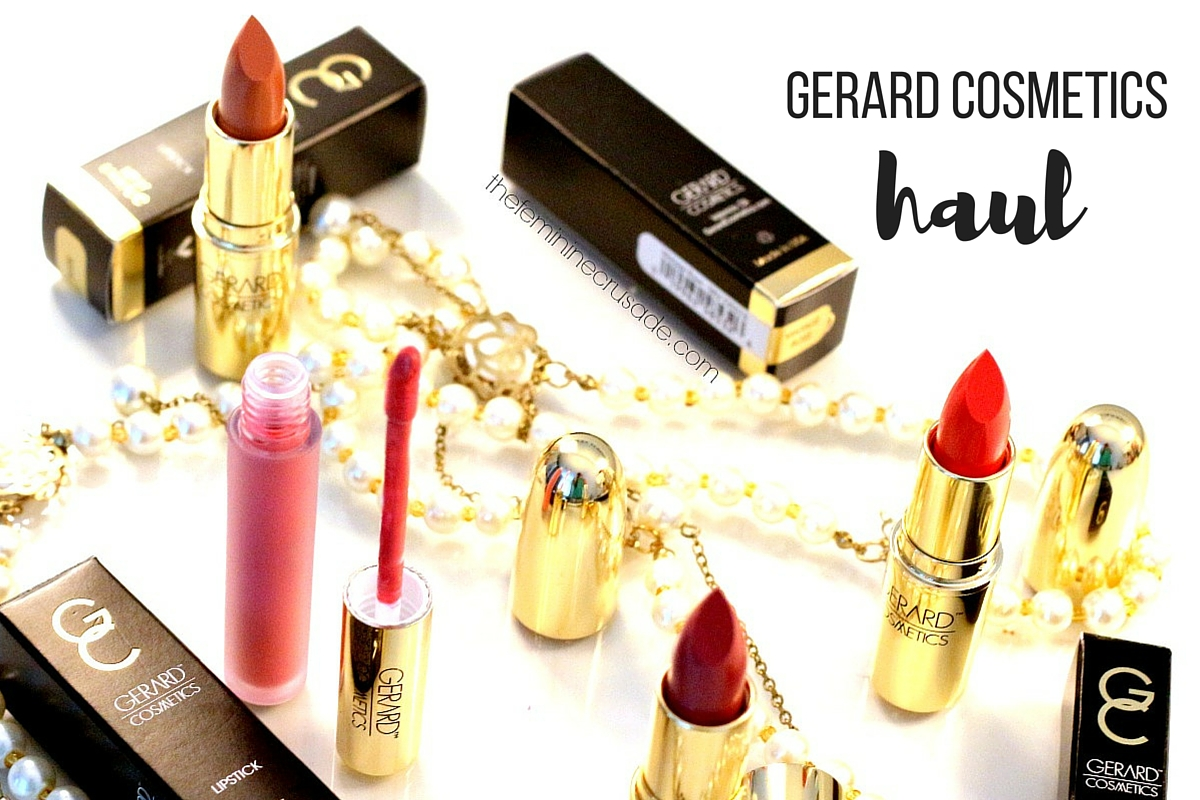 Gerard Cosmetics haul