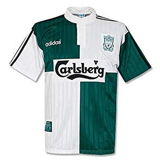low priced 6d1b6 65779 Liverpool 1995-96 Retro Away Kit Released - Footy Headlines