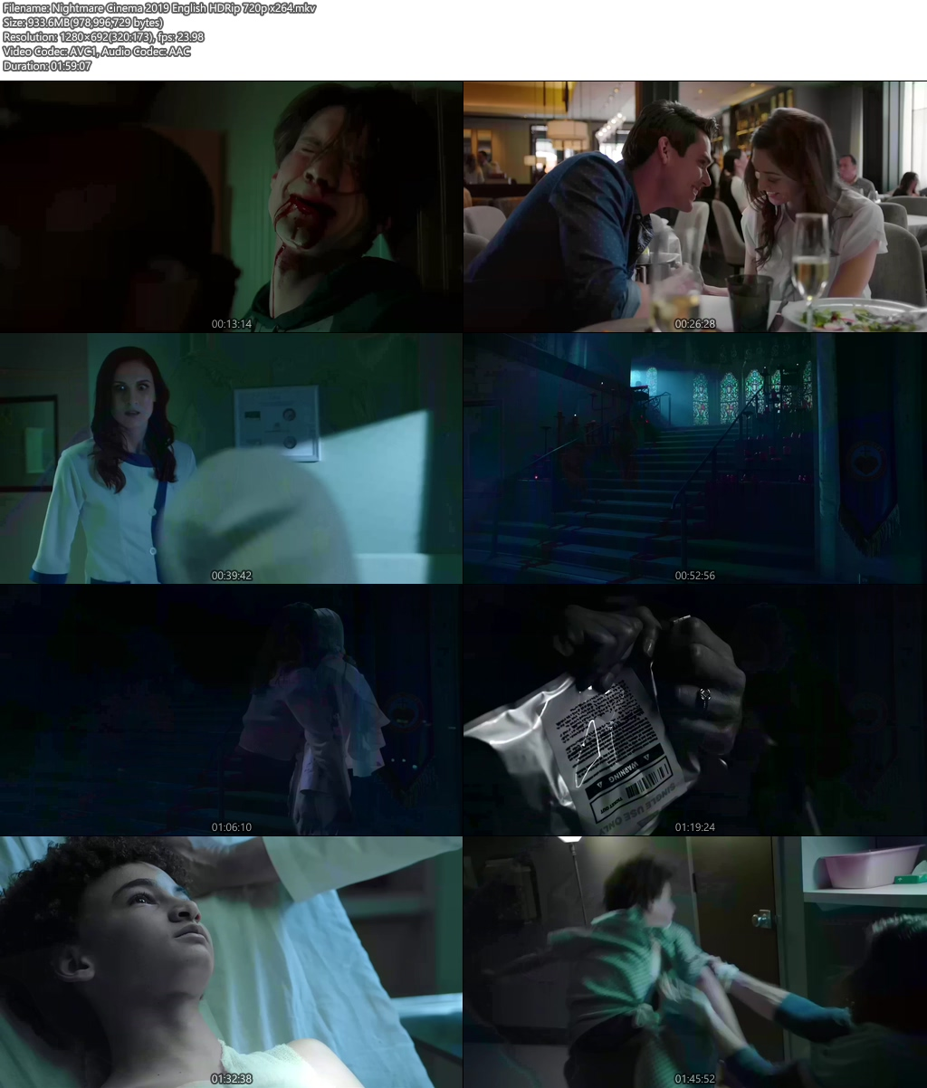 Nightmare Cinema 2019 English HDRip 720p x264 | 480p 300MB | 100MB HEVC Screenshot