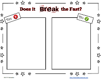 Does it break the fast? sorting activity