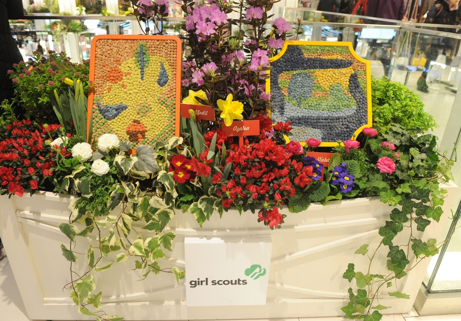 The second annual Girls' Choice Badges revealed at the Macy's Flower Show at