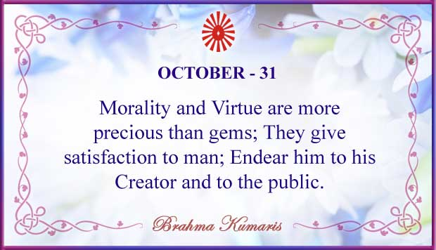 Thought For The Day October 31